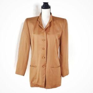 DONCASTER Nude Peach Blazer Silk Jacket Suit Coat